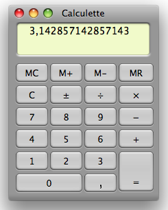 calculette scientifique mac