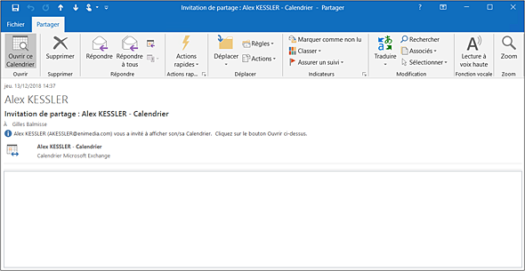 Affichage Calendrier Outlook.Outlook Versions 2019 Et Office 365 Ouvrir Un Calendrier