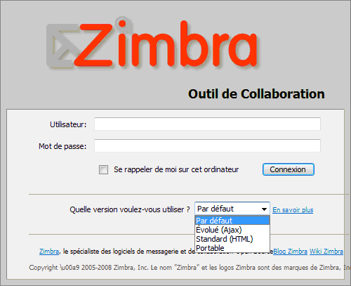 zimbra messagerie collaborative dentreprise open source