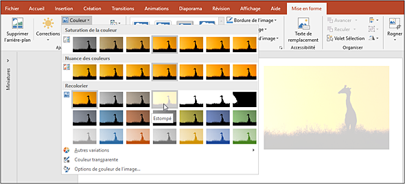 Powerpoint Versions 2019 Et Office 365 Modifier Les