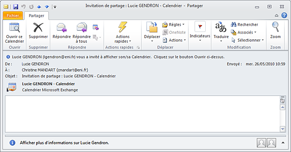 Partager Calendrier Outlook 2020.Calendrier Partage