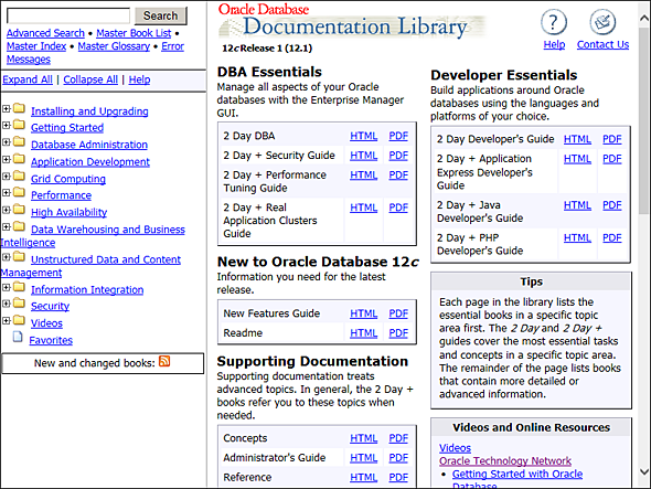 Oracle 12c Administration - La documentation Oracle