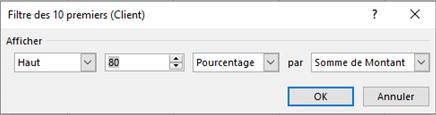 Excel - Filtre des 10 premiers