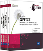 Microsoft® Office (versions 2019 et Office 365) Coffret de 4 livres : Word, Excel, PowerPoint et Outlook