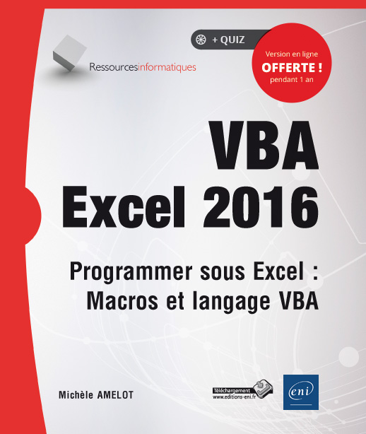 Livre VBA Excel 2016 - Programmer sous Excel : Macros et ...