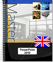 PowerPoint 2010 - (E/E) :Text in English with the English version of the software, Microsoft , PréAO , slide , photo,album , chart , diagram